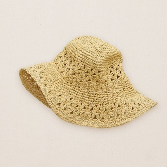 aerie Crochet Floppy Beach Hat